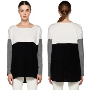 VINCE. Colorblock Wool & Cashmere Sweater M